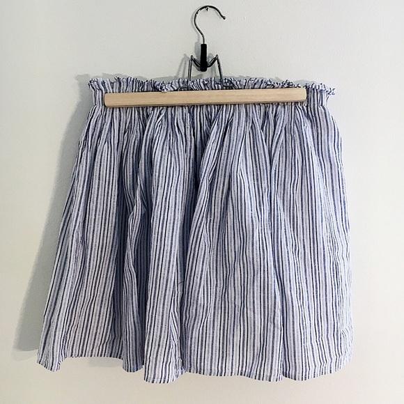 436b02cc0a Zara Skirts | Blue White Vertical Stripe Aline Mini Skirt | Poshmark